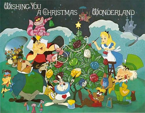 Disney Alice in Wonderland Christmas Cover