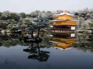 Kinkakuji Snow Reflection