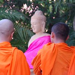 Monks at Silver Pagoda - Phnom Penh