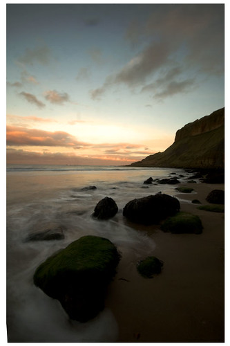 Cayton Bay at Sunset