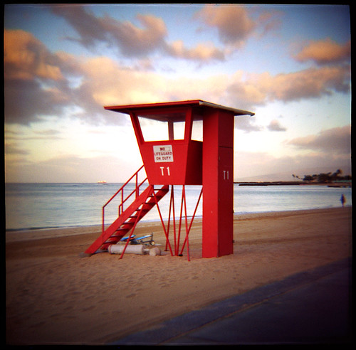 camera red tower 120 film beach analog sunrise mediumformat square toy island hawaii sand pacific waikiki oahu kodak toycamera halo lifeguard 2006 ishootfilm plastic diana squareformat hawaiian americana medium format shack honolulu 400uc analogue dianaf portra vignette t1 redtower lifeguardtower alamoana emulsion nolifeguardonduty supersaturated lifeguardhut eyetwist towerone ideasplayground ishootkodak fiveflickrfavs throwbackthursday contactforstockusage og1960sdianaf