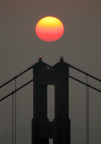 Golden Gate Bridge Hazy Sunrise