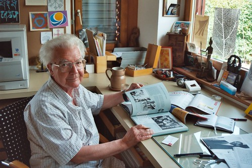 Adrian Frutiger at home in Bremgarten