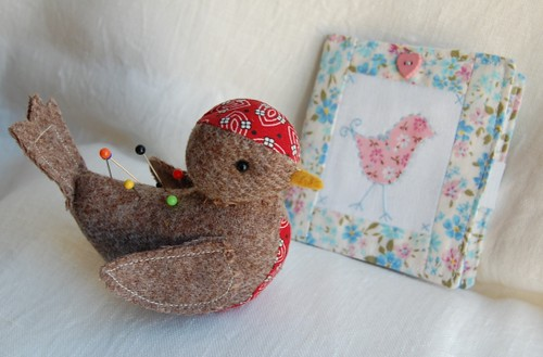 Tori (means bird) pin cushion