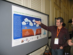 convention(0.0), academic conference(1.0), presentation(1.0), design(1.0), poster session(1.0),