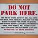 Do Not Park Here by Seán Duggan