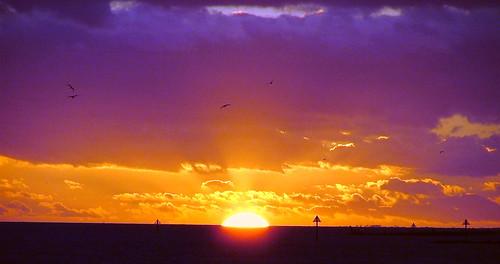 ocean light sunset sea england cloud sun weather clouds dusk sunsets atlantic essex clacton