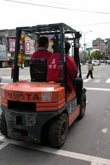 vehicle, transport, mode of transport, forklift truck,