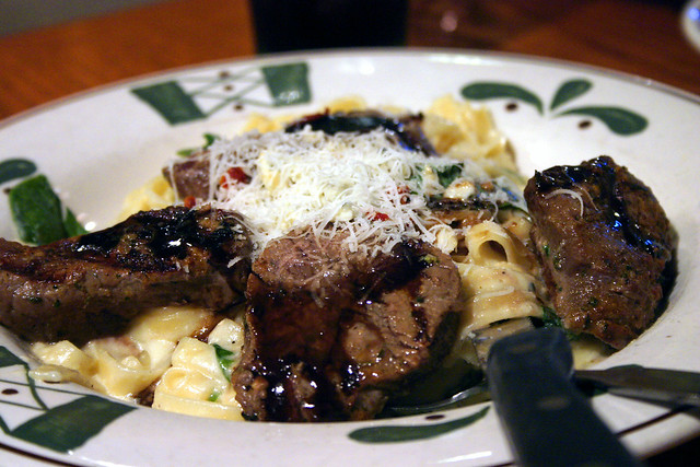 Steak Gorgonzola Alfredo Olive Garden Flickr Photo Sharing