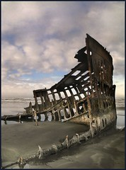 peter iredale at sunrise