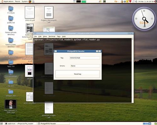 PyGTK GUI for RFID reader
