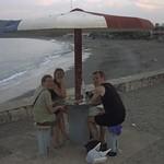 People Under a Concrete Umbrella - Baracoa, Cuba