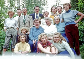 Group Picture at Grandlund's Villa (Finland 1952)