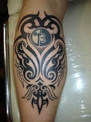 tribal extensions tattoo (Dejavu Tattoo Studio Chiangmai Thailand)