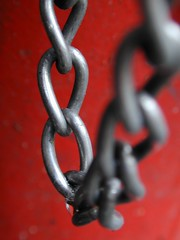 red, close-up, chain, iron,