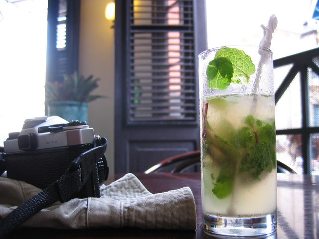that mojito I said I would have, to toast your good health