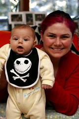 sequoia and rachel and their jack skellington bib   …