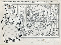 A sampler of things smokey the bear week day 2 for Smokey the bear coloring pages