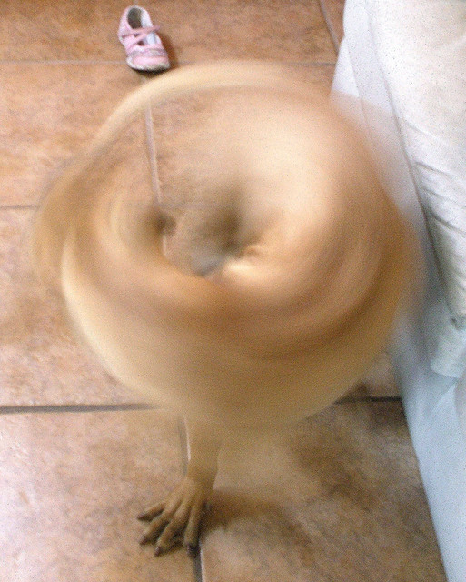 whirling dervish dog, or, bagel with one foot