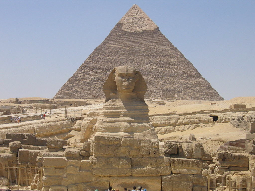 Giza, the Sphinx and the great pyramid
