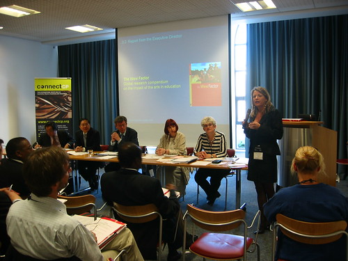Dr Anne Bamford addresses IFACCA members at their second General Assembly, Newcastle June 2006