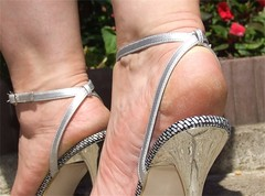 Silver Sandals 6 Close up