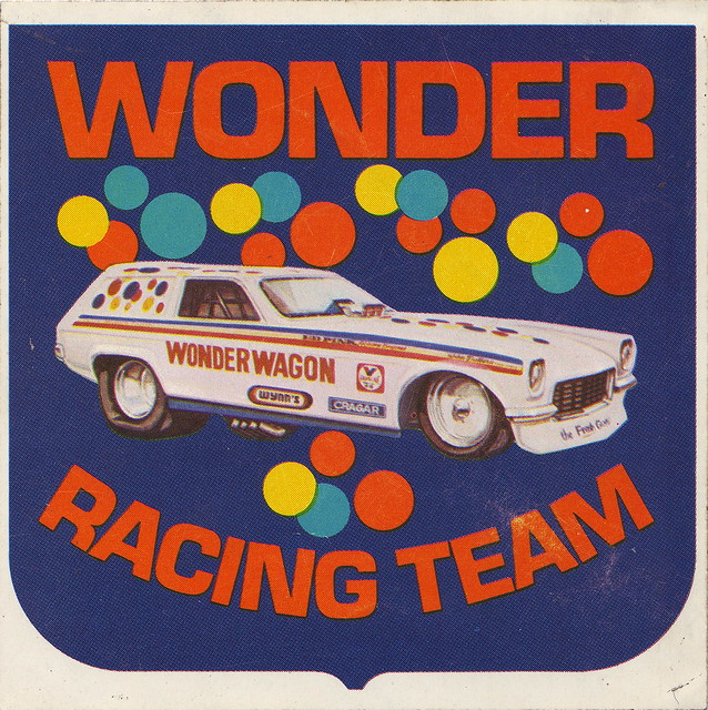 Wonder Bread Racing Team Sticker - Wonder Wagon - 1973ish