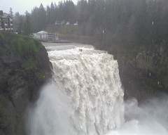 Snoqualmie Falls in flood