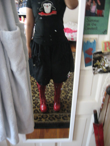 Bad mirror shot of boots and Kid Pirate t-shirt