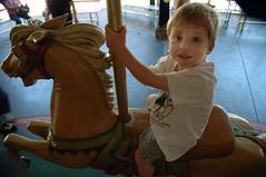 Nicky on the Tilden Park Carousel