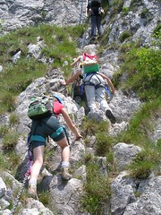 trail(0.0), walking(0.0), sport climbing(0.0), ridge(0.0), abseiling(0.0), canyoning(0.0), adventure(1.0), mountain(1.0), sports(1.0), recreation(1.0), outdoor recreation(1.0), mountaineering(1.0), backpacking(1.0), extreme sport(1.0), climbing(1.0), hiking(1.0),