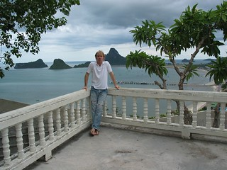 Me around a lonely Thai temple in 2003