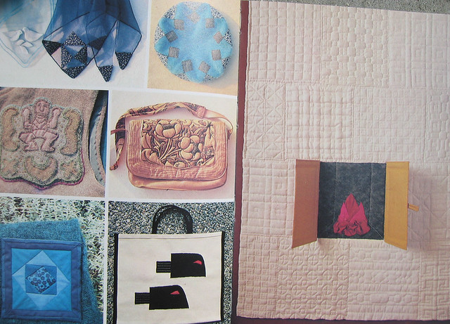 Quilting - bookspread from a book by Elise Svennås, on iHanna's blog #quilting
