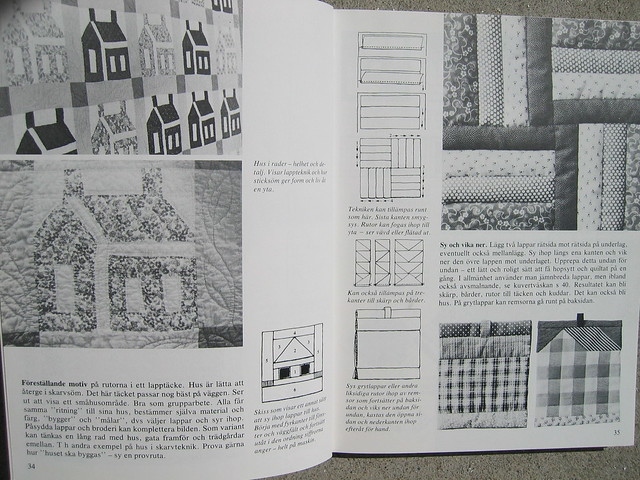 Quilting - bookspread from a book by Elise Svennås, on iHanna's blog