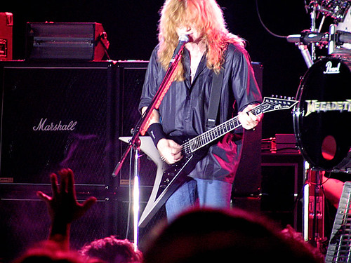 Megadeth live in Bucharest, June 15th, 2005 (Credit: Tudorminator on Flickr.com)