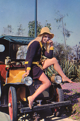 Girl on a Ford Model T