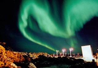 Northern lights, blue lagoon3, Iceland