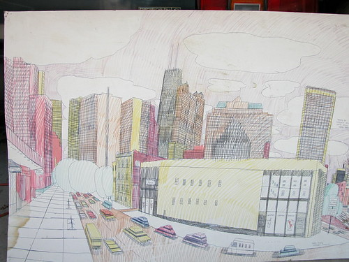 Wesley Willis Art > State, Rush, and Cedar 1989
