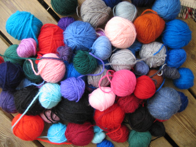 Small balls of yarn
