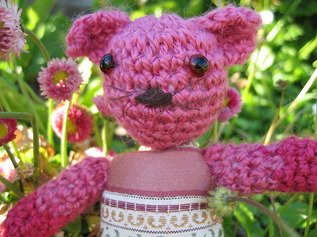 Pink amigurumi Cat by iHanna