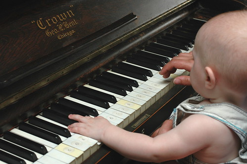 day 357: odin's first piano lesson. IV.