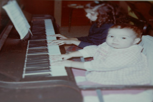 a piano lesson from a long, long, long time ago.