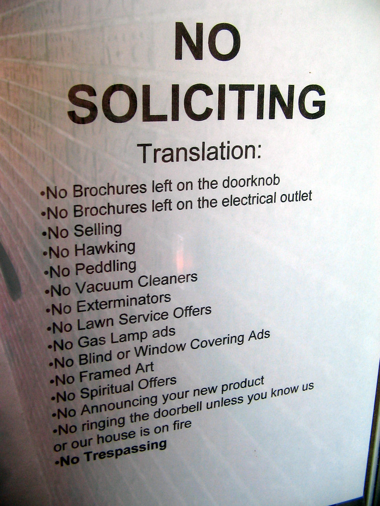 No Soliciting Sign A Photo On Flickriver