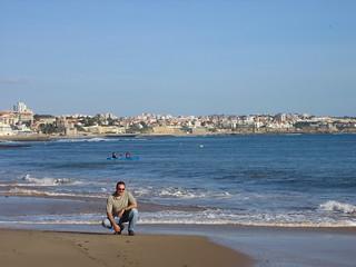 Image de Praia da Rainha Plage d'une longueur de 56 mètres. portugal cascais beach mick