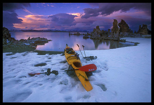 Kayak and Sunset, Mono Lake