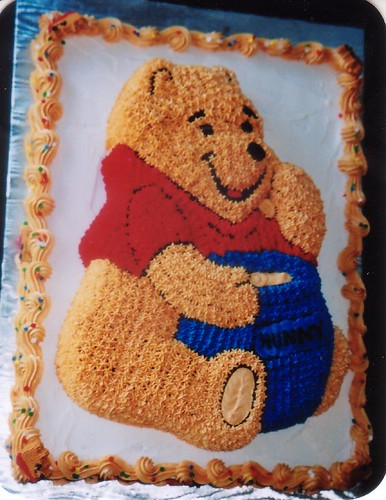 Pooh Shaped Cake