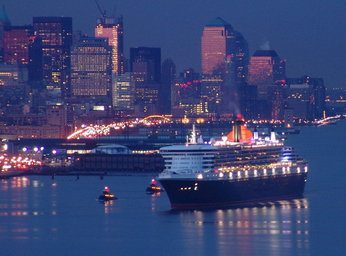 Queen Mary 2 Arrives In New York