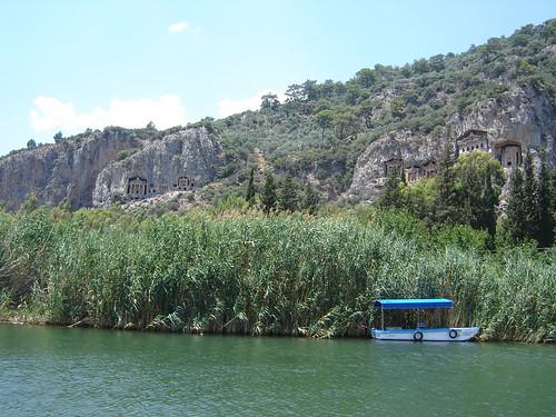 Dalyan, Turkije, graftombes,tempelgraven
