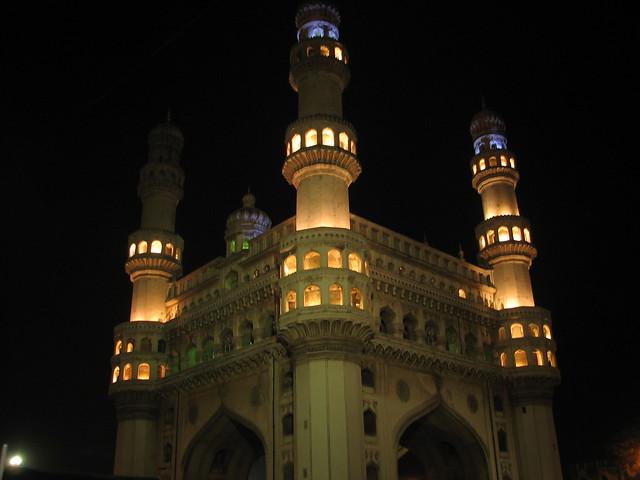 El Charminar de Hyderabad. Estado de Andhra Pradesh, India
