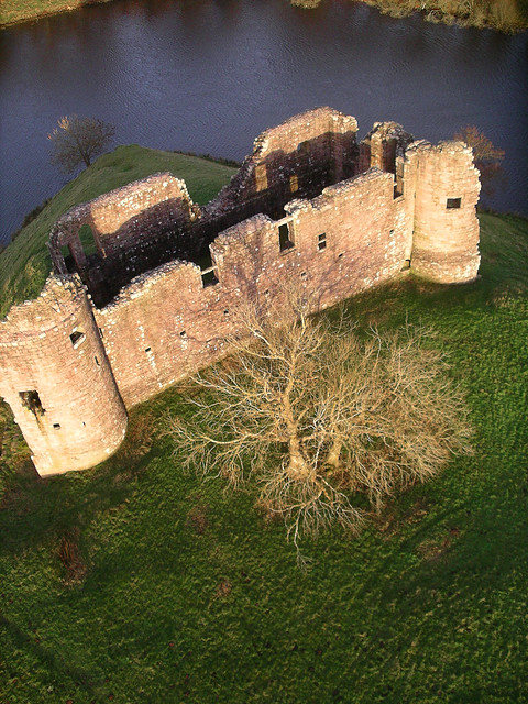 Morton castle from a kite